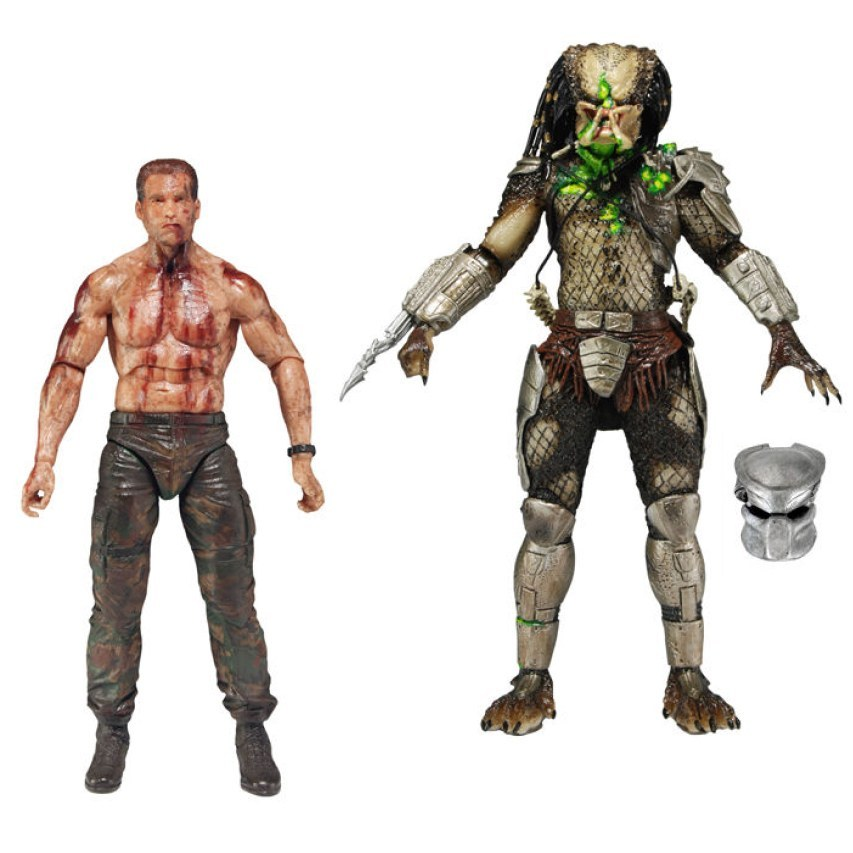 PREDATORS 7IN ACTION FIGURE PREDATOR VS DUTCH 2 PACK