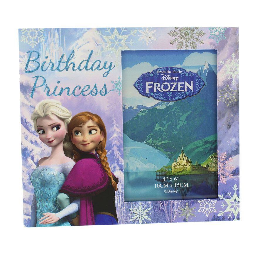 Disney Frozen Elsa and Anna Birthday Princess Photo Frame - DI197